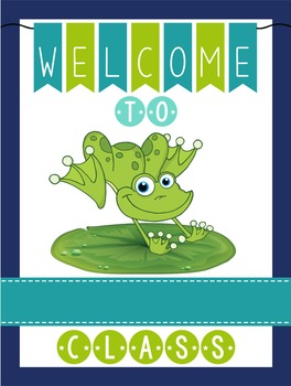 FROGS - Classroom Decor: WELCOME Poster - 18 x 24, you personalize, Design A
