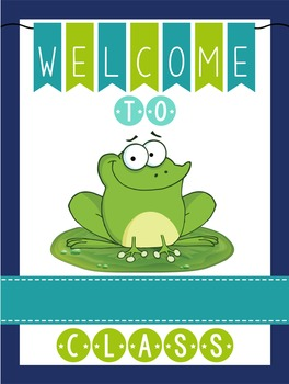 FROGS - Classroom Decor: WELCOME Poster - 18 x 24, you personalize, Design C