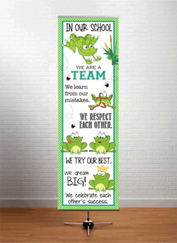 FROGS - Classroom Decor: X-LARGE BANNER, In Our School