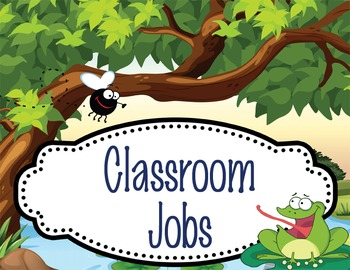 FROGS - Classroom Helpers JOBS clip chart