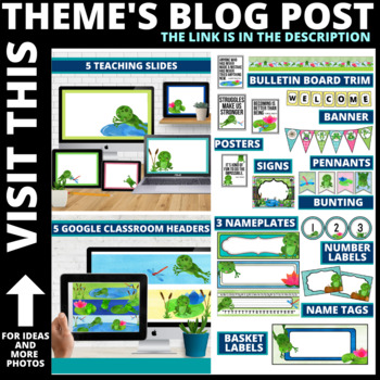 FROG THEME Classroom Decor EDITABLE