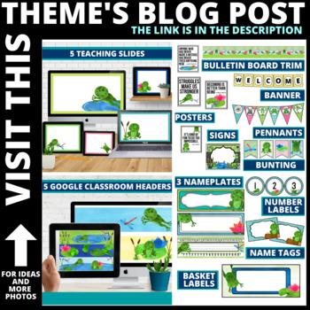 Frog Classroom Theme Decor Google Classroom