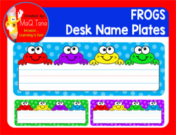 FROGS DESK NAME PLATES