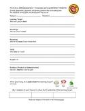 F.R.O.G.S. Learning Target Student Data Binder Reflection Sheet