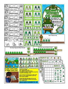 FROGS-Literacy,Math,Science and Art FUN MEGA THEME PACK