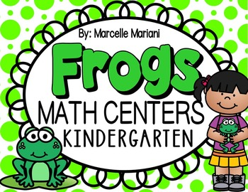 FROGS MATH CENTERS-FROG THEMED MATH CENTER ACTIVITIES