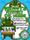 KINDERGARTEN CVC ACTIVITIES - FROGS MYSTERY CVC TASK CARDS- BUNDLE PACK