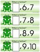 FROGS - Numbers What Comes Next - 21 Activity cards