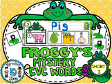 FROGS- SHORT I-MYSTERY CVC  LITERACY CENTRE CVC TASK CARDS