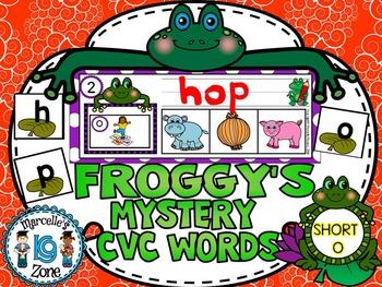 FROGS- SHORT O-MYSTERY CVC  LITERACY CENTRE CVC TASK CARDS