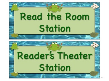 FROGS & TADPOLES Themed Station/Center Signs Great Classroom Management!