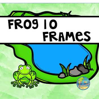 FROGS--Ten Frames (0-20), Vocabulary Word Cards, Days of Week Cards