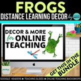 FROGS THEME Classroom Decor - 2 EDITABLE Clutter-Free Clas