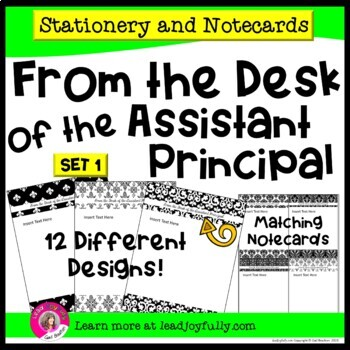 FROM THE DESK OF THE ASSISTANT PRINCIPAL: Stationery with Matching Note Cards