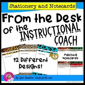 FROM THE DESK OF THE INSTRUCTIONAL COACH: Stationery with Matching Note Cards