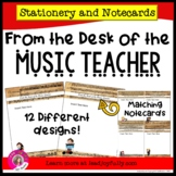 FROM THE DESK OF THE MUSIC TEACHER: Stationery with Matchi