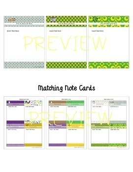 FROM THE DESK OF THE NURSE: Stationery with Matching Note Cards