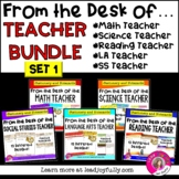 FROM THE DESK OF...TEACHER BUNDLE (Set 1): Stationery with