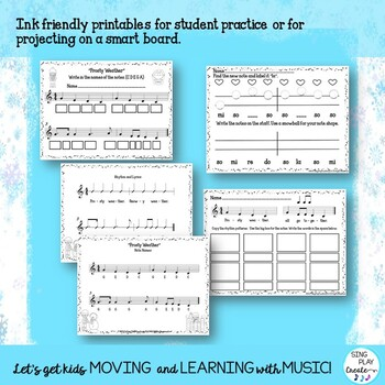 "Music Kodaly & Orff Lesson: ""Frosty Weather"" Game, Song, Worksheets, Mp3 Tracks"