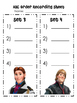 FROZEN ABC ORDER back to school