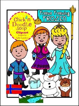 FROZEN Clip Art BUNDLE {Chick'n Doodle Soup}