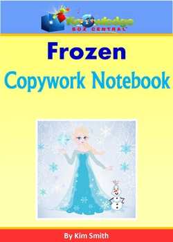 FROZEN Copywork Notebook