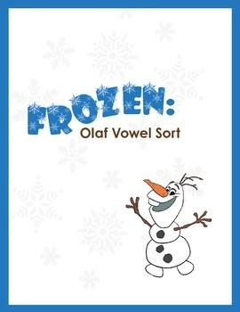 FROZEN: Olaf vowel word sort