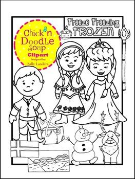 FROZEN Stamps Clip Art {Chick'n Doodle Soup}