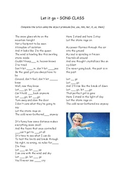 FROZEN song class - object pronouns