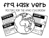 FRQ Task Verb Posters for the APHG Classroom