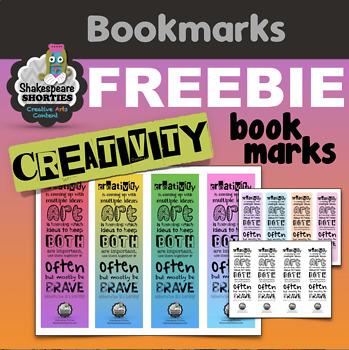 FREE: Creativity Bookmarks