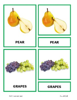 FRUIT - 3-part cards - English version