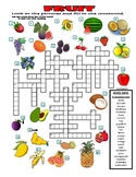 FRUIT - CROSSWORD PUZZLE WITH PICTURES (food)