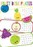 FRUIT DESK PLATES