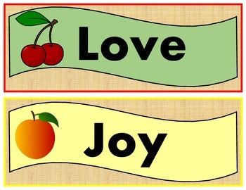 FRUIT OF THE SPIRIT STRIPS