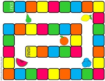 FRUIT PUNCH!  Metric and Customary Length Board Game