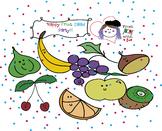 FRUIT SALAD PARTY! - HUGE CLIPART SET FREE- 32 BW/COLOUR F