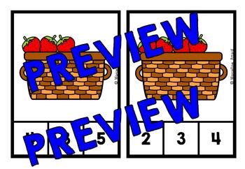 FRUIT THEME ACTIVITIES: KINDERGARTEN PRINTABLES: STRAWBERRIES COUNTING CENTER