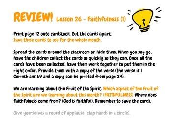FRUIT! The Fruit of the Spirit: Vol. 7 FAITHFULNESS (Elementary Version)