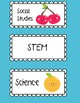 FRUIT Themed Class Schedule