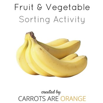 FRUIT & VEGETABLE SORT WITH REAL IMAGES