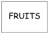 FRUITS FLASHCARDS WITH FRUIT TREES