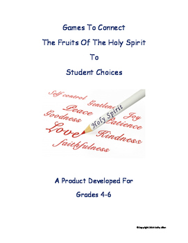 """Fruits of Holy Spirit"" and Student Actions"