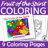 FRUITS OF THE SPIRIT Coloring Pages Christian Bible Lessons