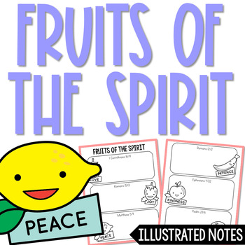 FRUITS OF THE SPIRIT Illustrated Notes | Christian Activity | Religious Project