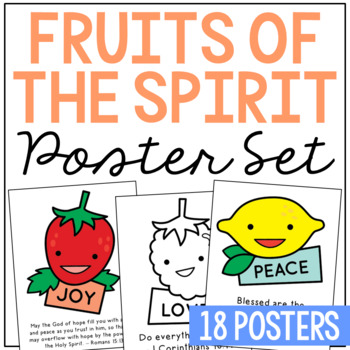 FRUITS OF THE SPIRIT Posters | Coloring Pages | Christian Bible Lesson