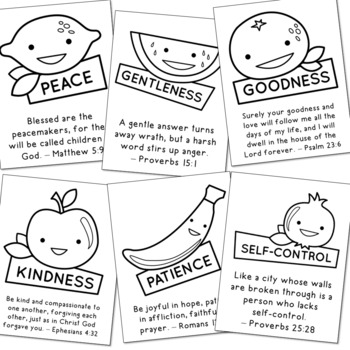 FREEBIE!! FRUITS OF THE SPIRIT Posters, Coloring Pages, Christian, Catholic