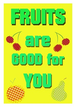 FRUITS POSTERS ( Healthy Eating )