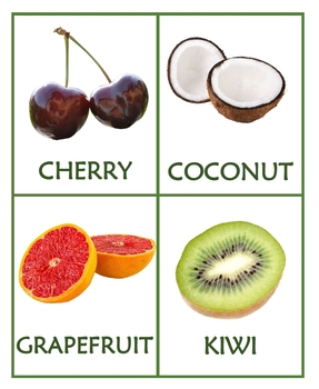 FRUITS - Presentation, Flashcards and Handouts