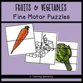 FRUITS & VEGETABLES Fine Motor Puzzles